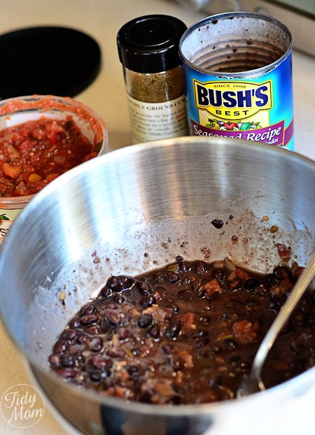 Black Beans and Salsa