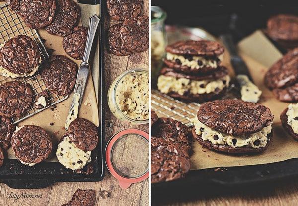Cookie Dough Brownie Cookies at TidyMom.net