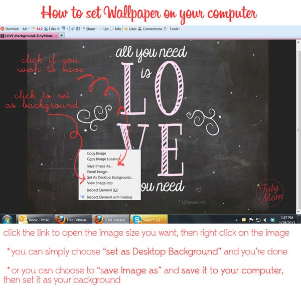 How to set wallpaper to computer