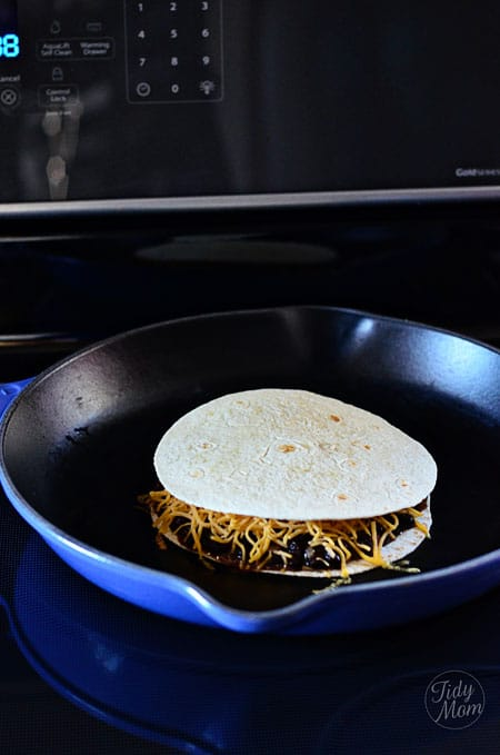 cooking quesadillas