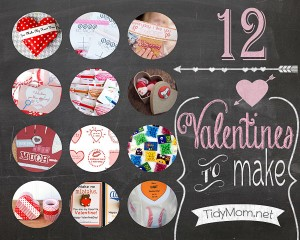 12 Valentines to Make at TidyMom.net