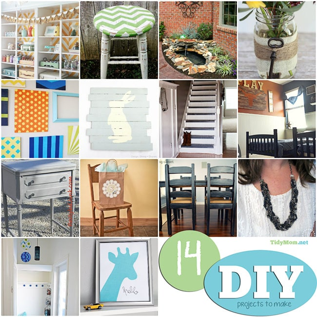 14 DIY projects to make at TidyMom.net #ImLovinIt