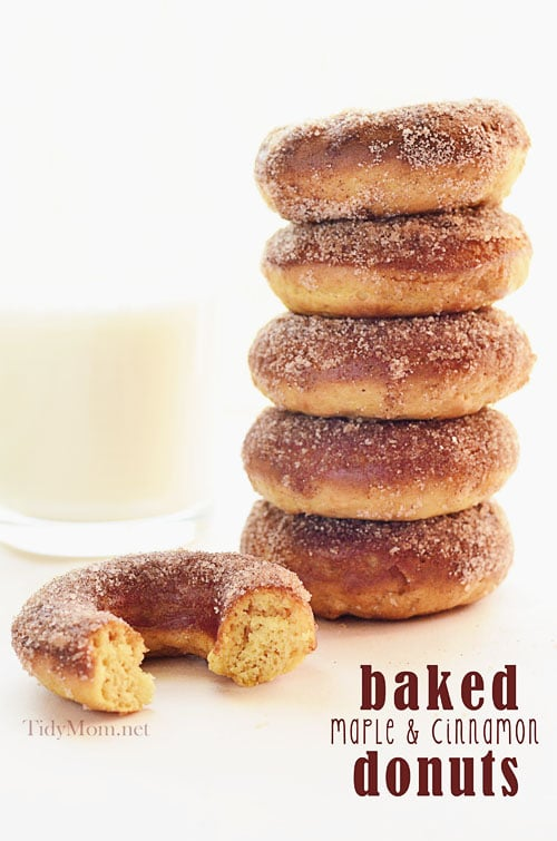 Baked Maple Cinnamon Donuts TidyMom