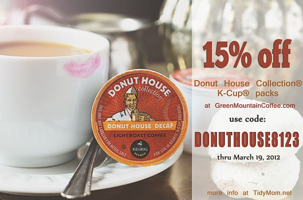 Coupon for Donut House Coffee at TidyMom
