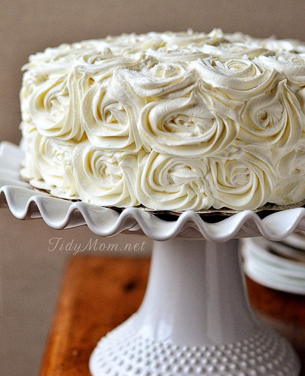 Red Velvet Cinnamon Layer Rose Cake recipe TidyMom