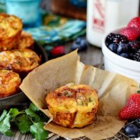 Southwest Baked Egg Breakfast Cups