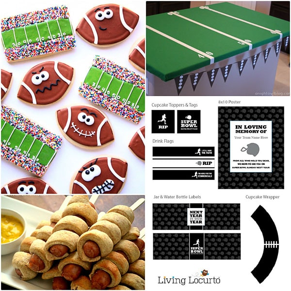 Super Bowl Food and Decor
