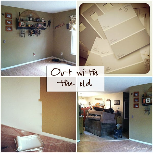 painting family room- out with the old