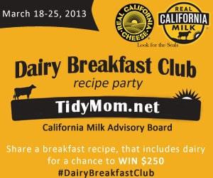 Dairy Breakfast Club recipe party at TidyMom.net