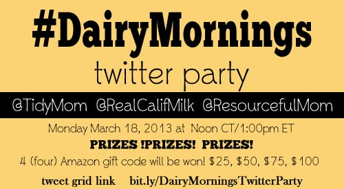 DairyMornings Twitter Party with TidyMom