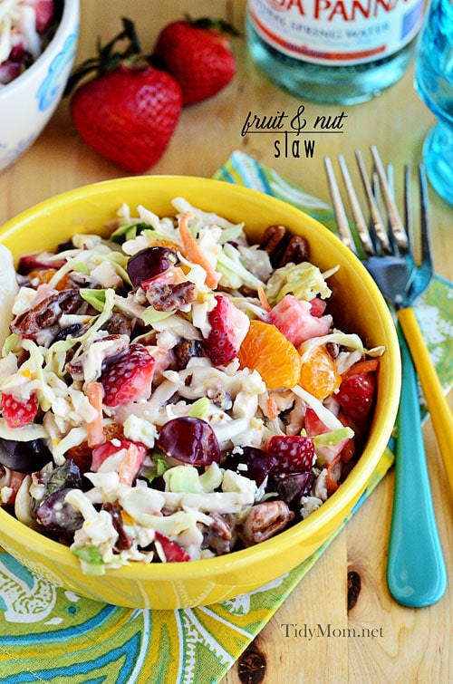 Fruit and Nut Slaw at TidyMom