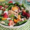 Strawberry Orange Spinach Salad with Quinoa at TidyMom