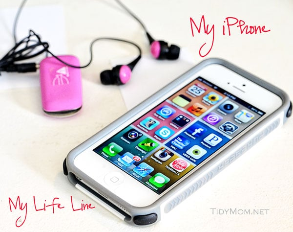 TidyMom iPhone with PureGear Case at TidyMom.net