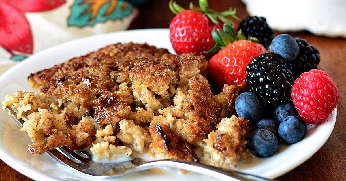 Creme Brulee Baked Oatmeal Recipe