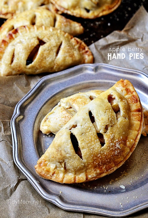 Apple Berry Hand Pies recipe at TidyMom.net