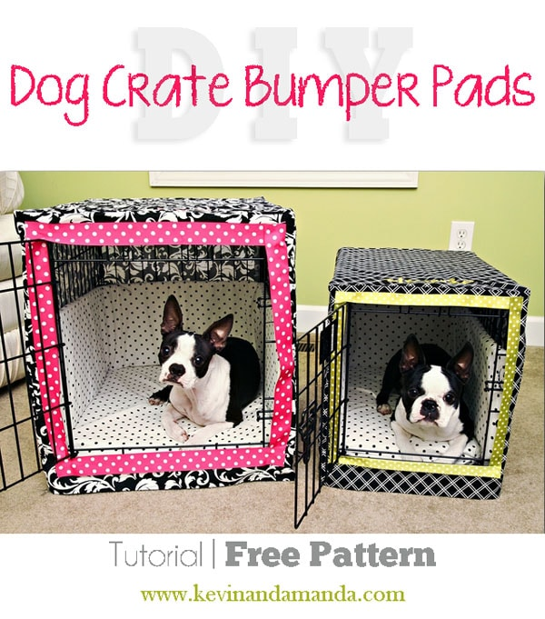 DIY Dog Crate Bumper Pads