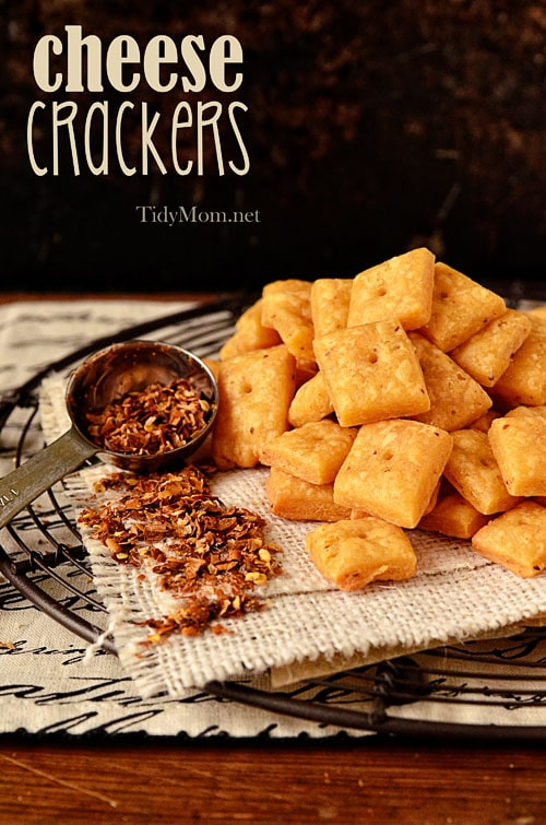 Homemade Cheese Crackers TidyMom