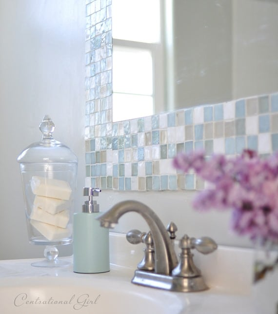 Beau Diy Mosaic Tile Bathroom Mirror At Centsationalgirl.com