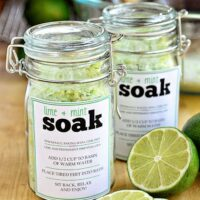 DIY Lime Mint Foot Soak & Printable