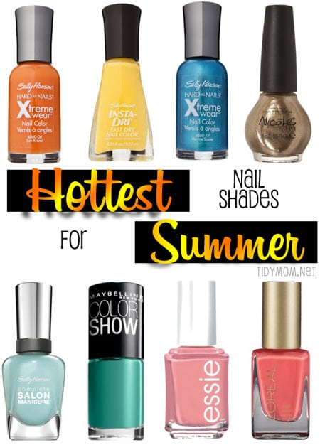 Hottest Nail Shades for Summer at TidyMom.net