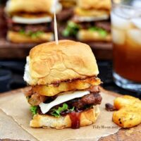 Hawaiian Burger Recipe - Aloha BBQ Sliders