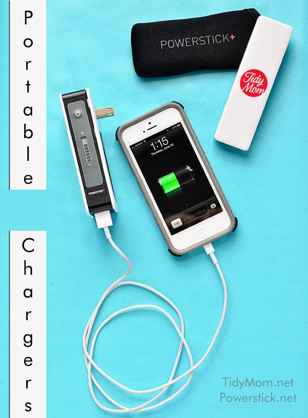 Portable Chargers from Powerstick.com | more info at TidyMom.net