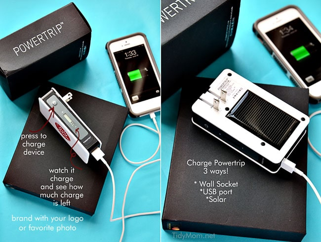 Portable, customized Chargers from Powerstick.com | more info at TidyMom.net