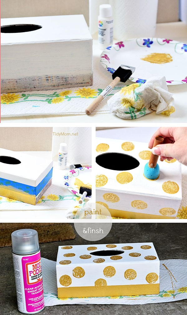 Repurpose Tissue Box at TidyMom.net