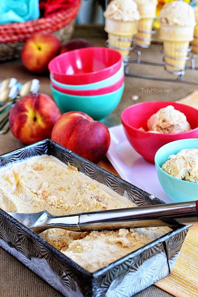 frozen custard in colorful bowls