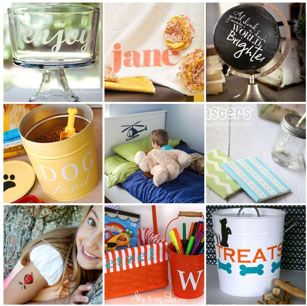 Silhouete project ideas and inpiration at TidyMom.net