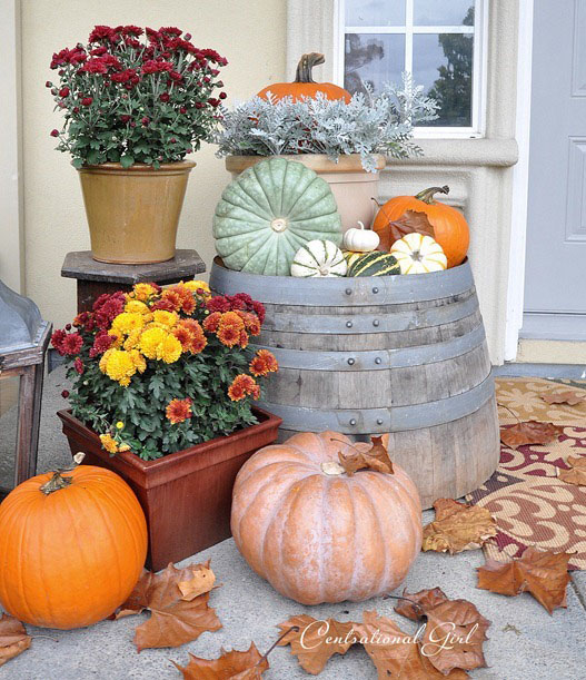 Fall Harvest Porch at CentsationalGirl.com
