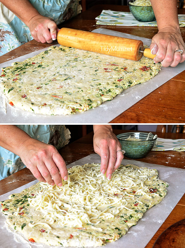 Pizza Bread Stuffed With Cheese And Chicken