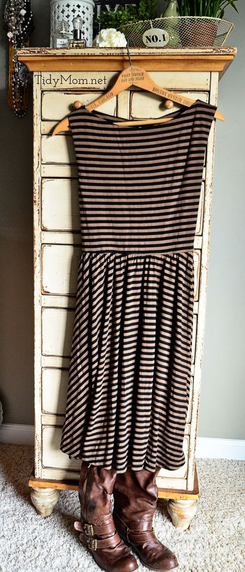 Stitch Fix Angie Striped Dress at TidyMom.net