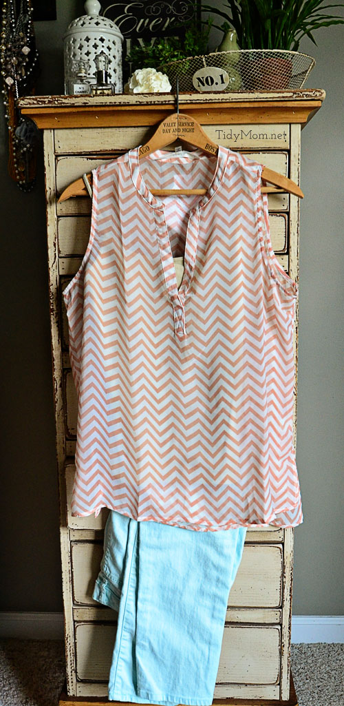 Stitch Fix Fun2Fun Chevron Blouse at TidyMom.net