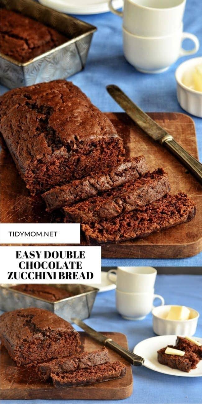 DOUBLE CHOCOLATE ZUCCHINI BREAD SLICED