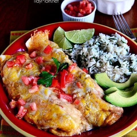 Easy Chicken & Cheese Enchiladas