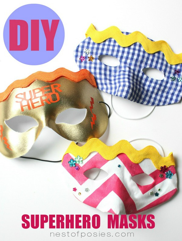 DIY Superhero Masks for the kids!  Perfect for everyday fun or for Halloween via TidyMom.net