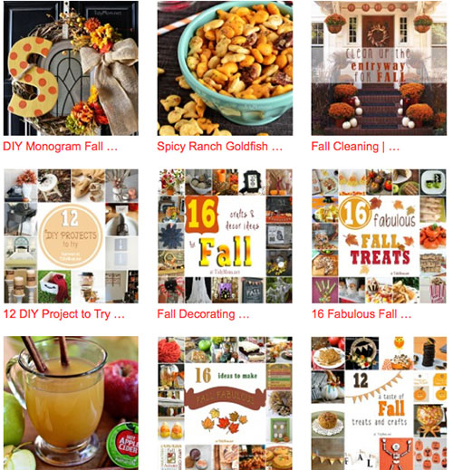 Fall diy projects, crafts, recipes, inspiration and more at Tidymom.net