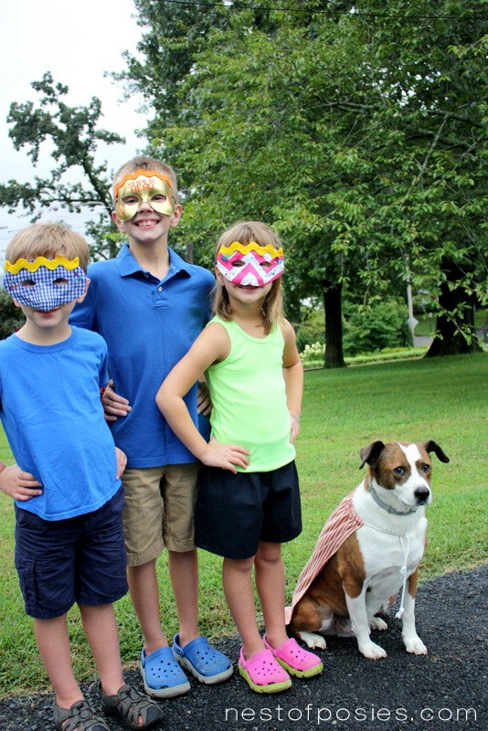 Make the kids their own Superhero Masks! Learn how at TidyMom.net