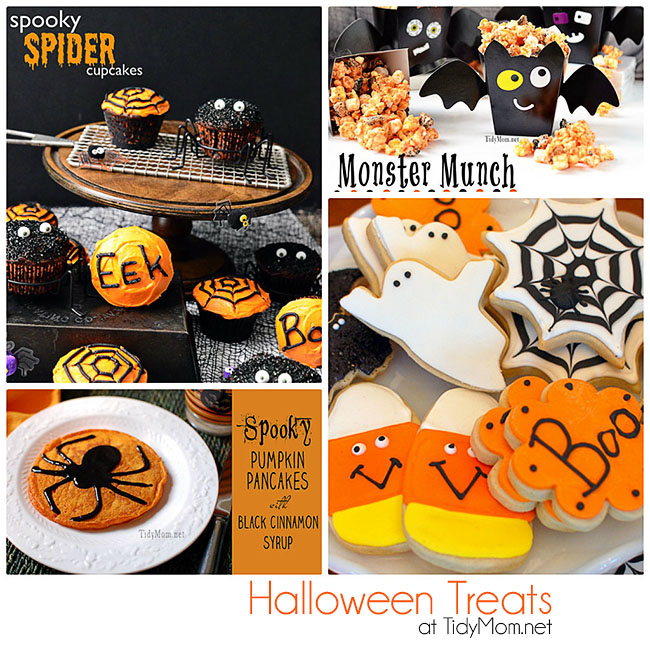 Lots of Fun and Easy Halloween Treats to make! Recipes and tutorials at TidyMom.net