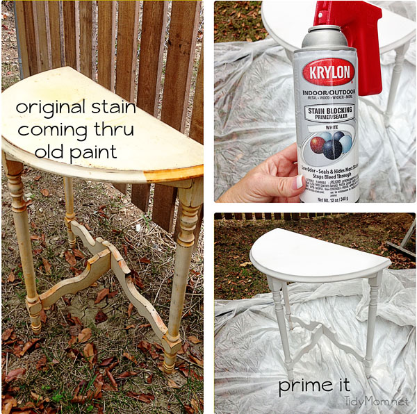 Priming a Table at TidyMom.net