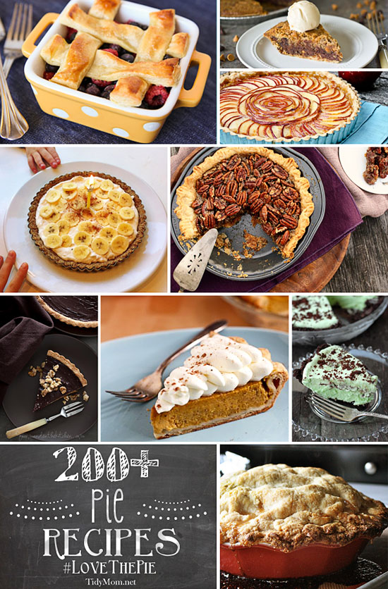 200+-Pie Recipes at TidyMom.net