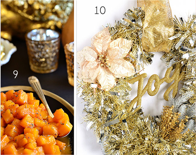Butternut Squash + Gold Wreath