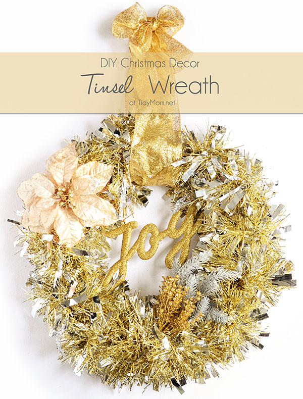 DIY Tinsel Wreath