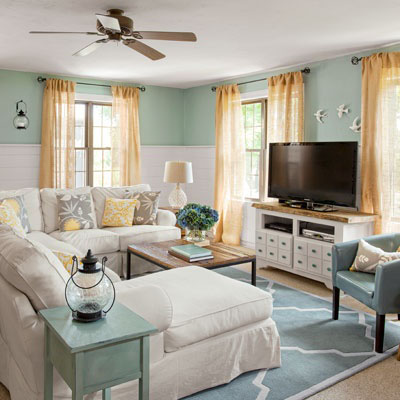 Costal Cottage Family Room