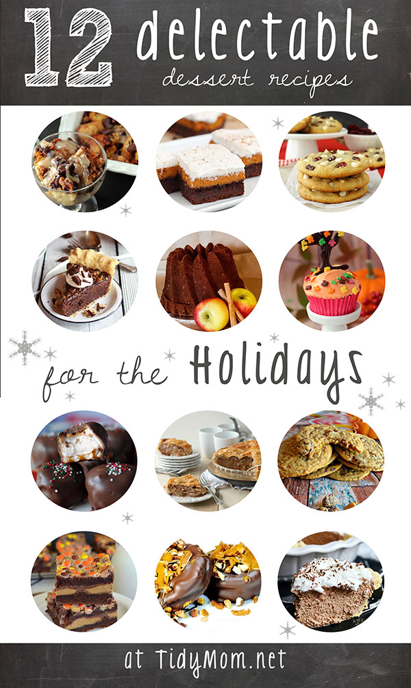 12 Delectable Dessert Recipes for the Holidays at TidyMom.net