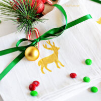 DIY Stenciled Holiday Towels