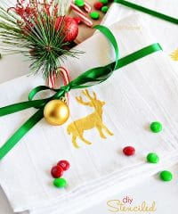DIY Stenciled Holiday Tea Towels