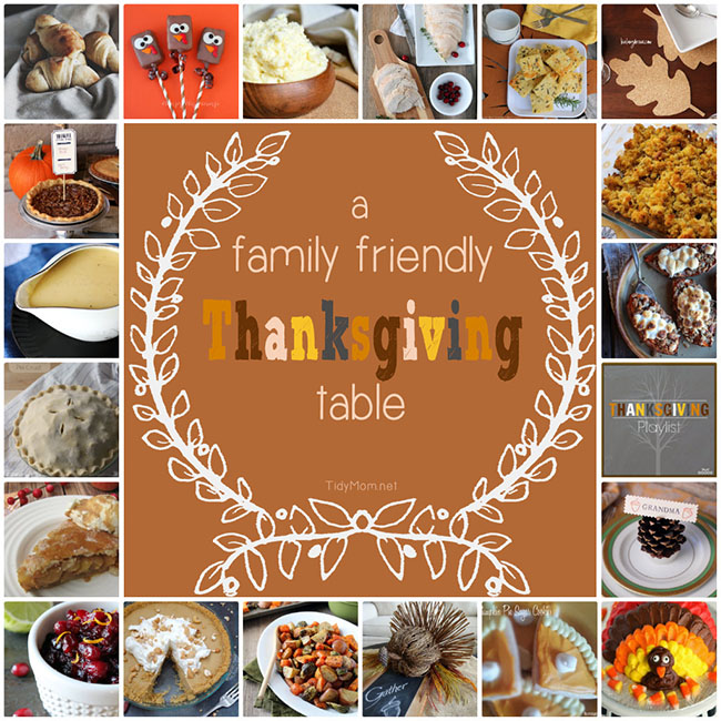 20 Recipes and Ideas for a Family Friendly #Thanksgiving Dinner Table at TidyMom.net