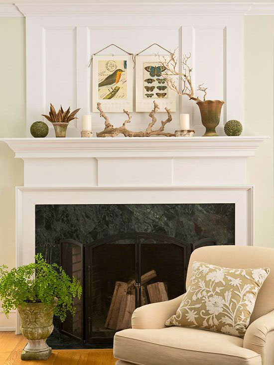 Creative Fireplace Mantle